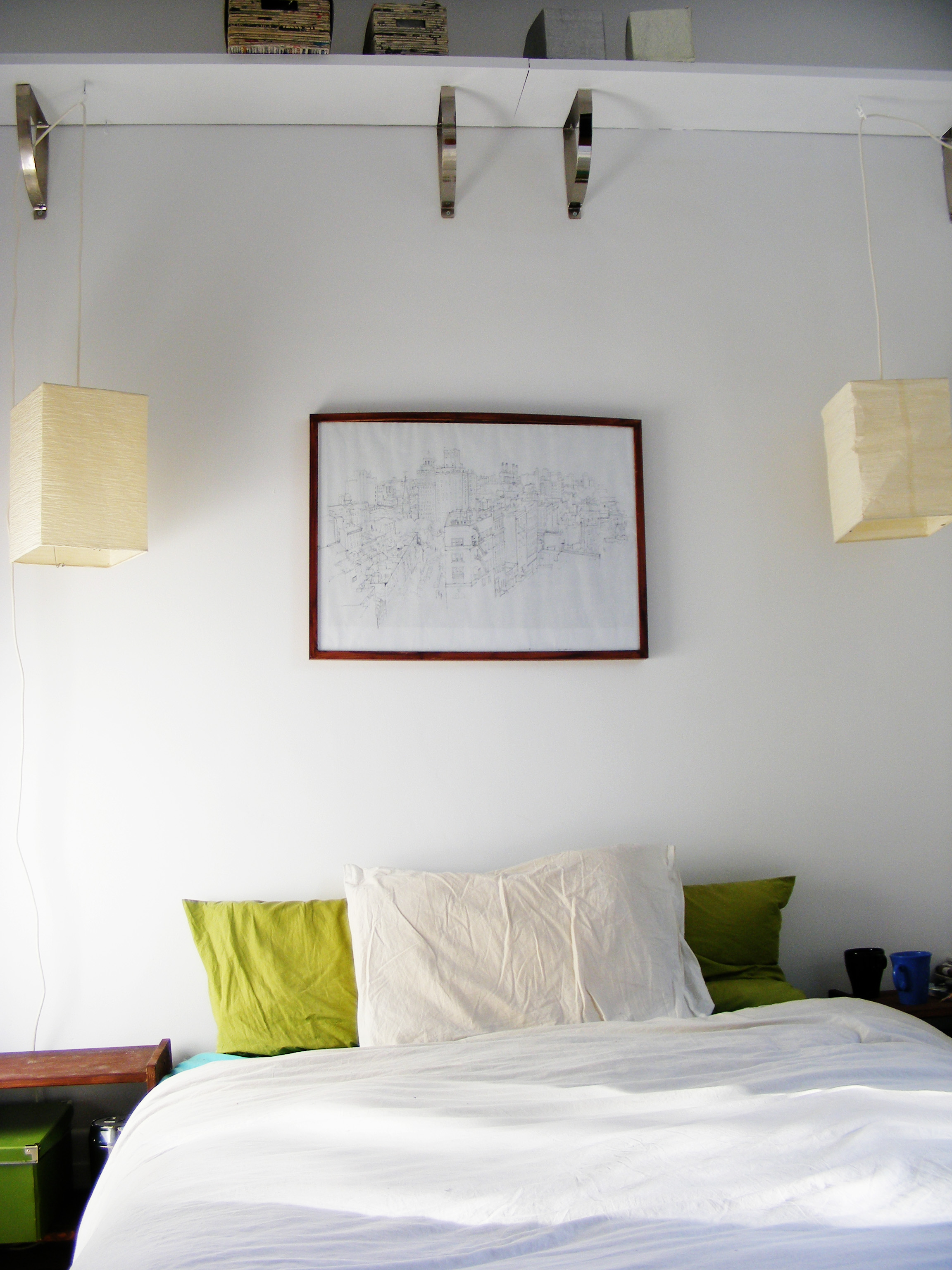 White Green And Brown Bedroom
