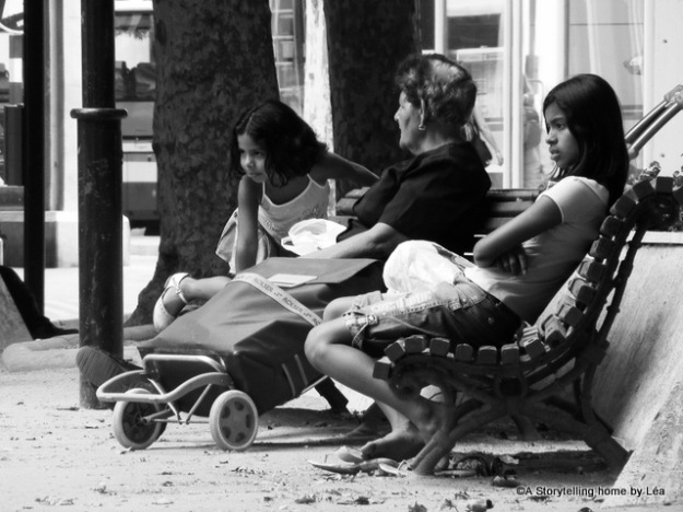 girls street portrait spain