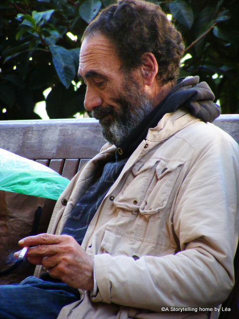 Man on the street in Barcelona