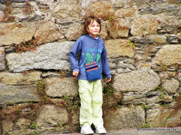 Playful girl in Concarneau