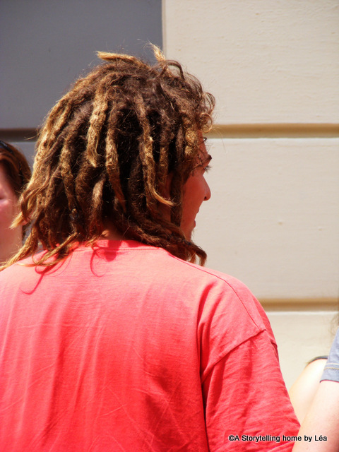 street portrait man with dreadlocks spain