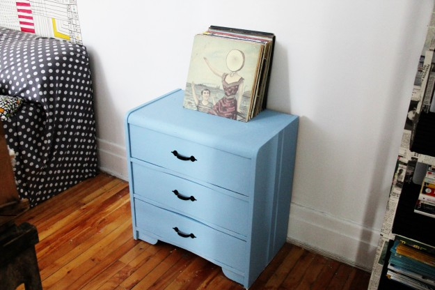 Dresser makeover blue