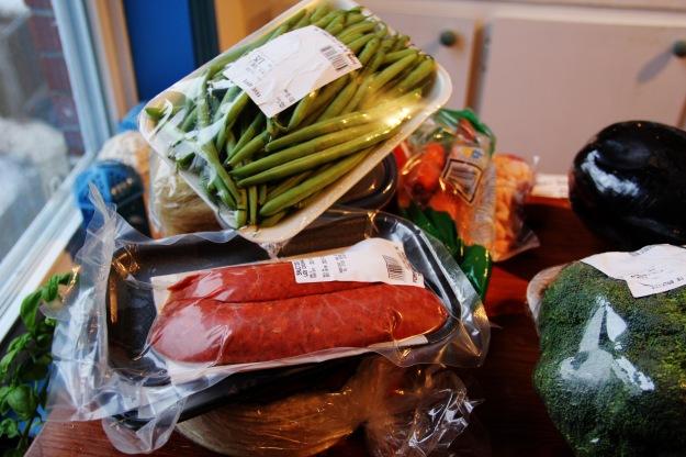 sausage green beans