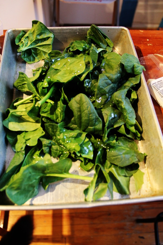 spinach in the oven
