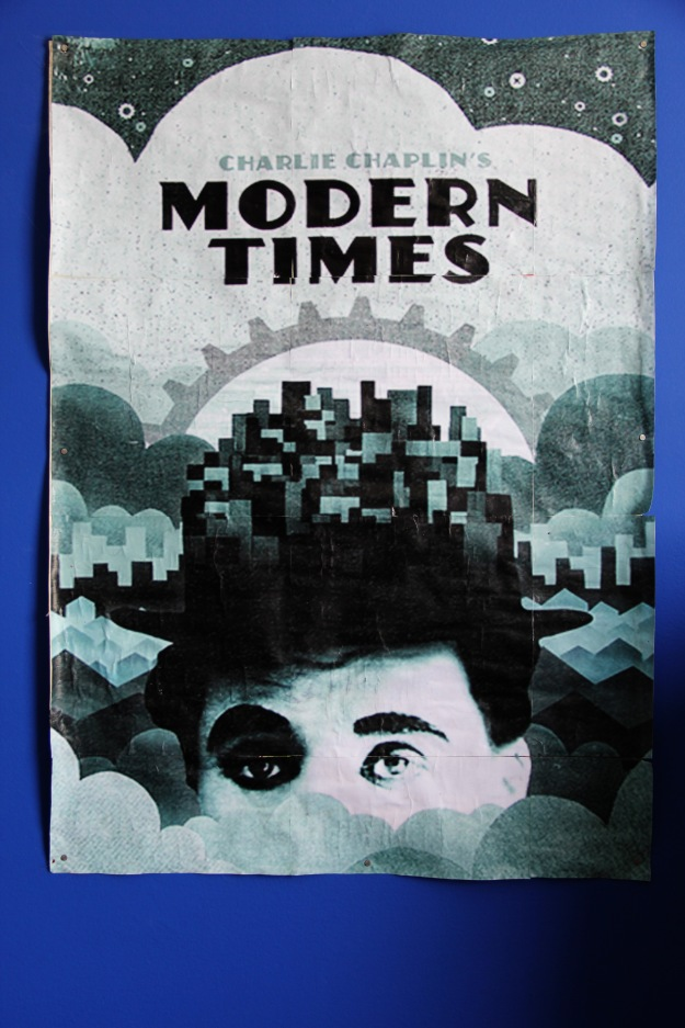 DIY home printed movie poster Charlie Chaplin Modern Times