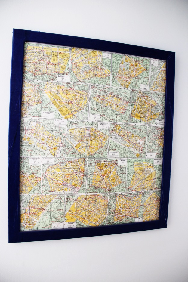 DIY Map framed art Paris