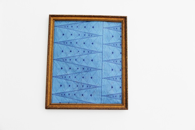 Framed scrapbooking paper art blue