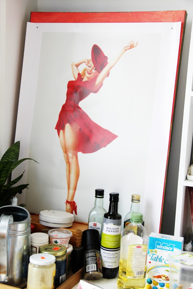 Vargas girl poster in my kitchen
