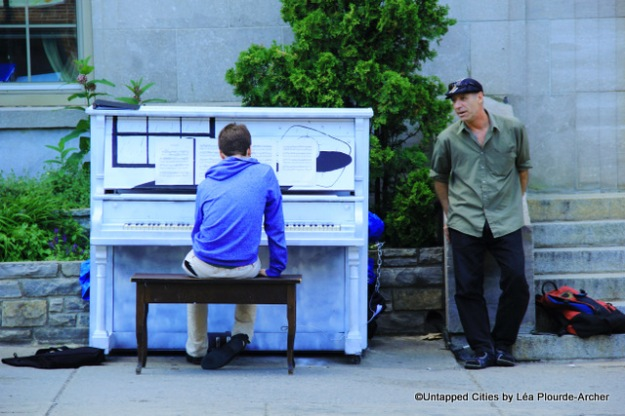 Public piano Mont Royal Henri-Julien Montreal_Untapped Cities_Lea Plourde-Archer