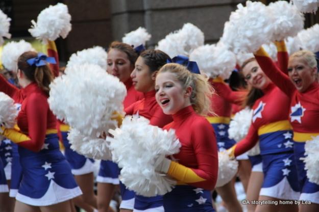 Cheerleaders Macy's Thanksgiving Day parade New York