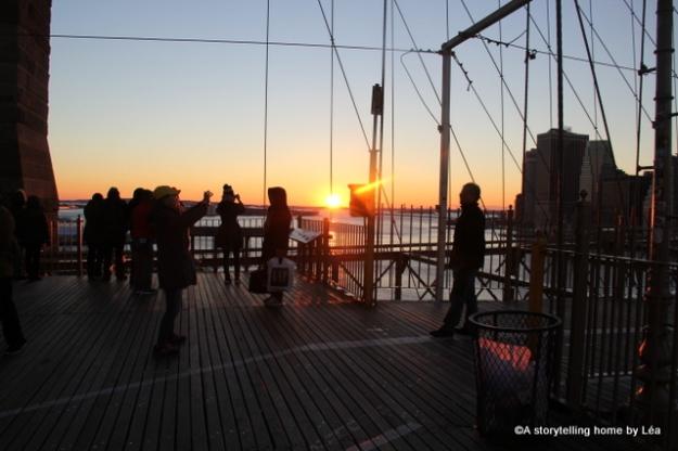 brooklyn bridge sunset new york city 2013