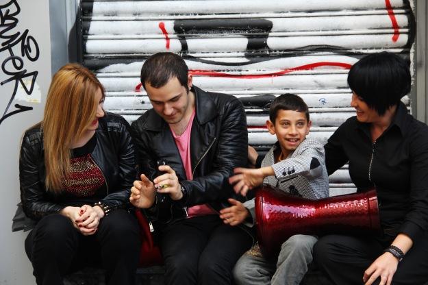 Street musicians on Istiklal caddesi