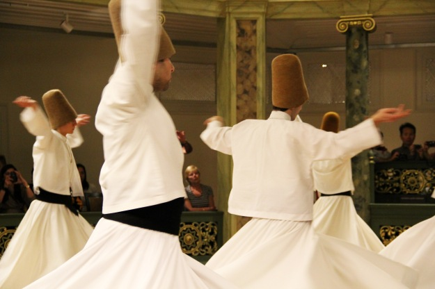 A whirling dervish ceremony