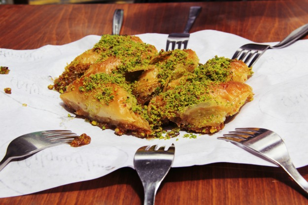 Mouth watering baklava