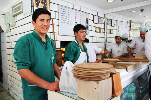 Lahmajun preparation, every employee has their specific step to follow